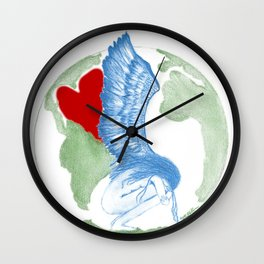 Earth Angel- Love Unearthed Wall Clock