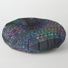 periodic table of elements Floor Pillow
