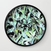plant Wall Clocks featuring Plant by Minomiir