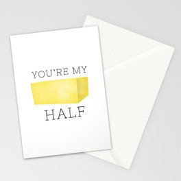 You're My Butter Half Stationery Cards