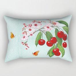 Cherries on Vintage  Rectangular Pillow