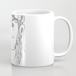 Paul Bunyan Lumberjack Doodle Art Coffee Mug