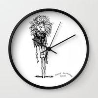 sasquatch Wall Clocks featuring SASQUATCH by Maddy Ellwanger