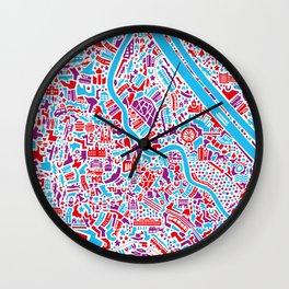 Vienna City Map Poster Wall Clock