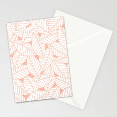 Leaves in Creamsicle Stationery Cards