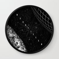 interstellar Wall Clocks featuring Interstellar by Amanda Mocci