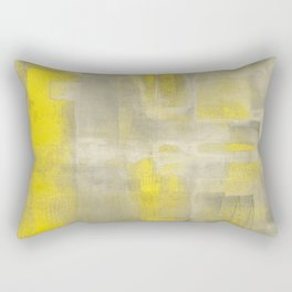 Stasis Gray & Gold 2 Rectangular Pillow