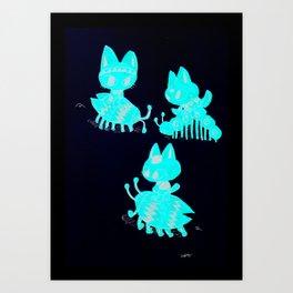 Cats n' Bugs Art Print
