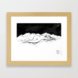 Just as the universe intended  Framed Art Print