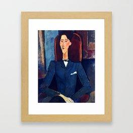 "Amedeo Modigliani ""Jean Cocteau"" Framed Art Print"