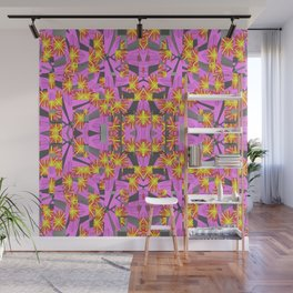 Flower Rockets Blast Wall Mural
