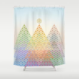 Flower of Life Pine Trees Shower Curtain