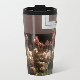 Chickens at the hen house Travel Mug