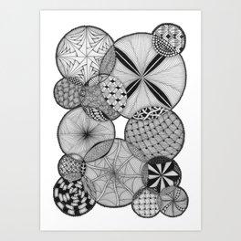 Zentangle®-Inspired Art - ZIA 53 Art Print