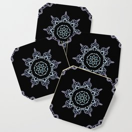 winter star hand drawn kaleidoscope Mandala Coaster