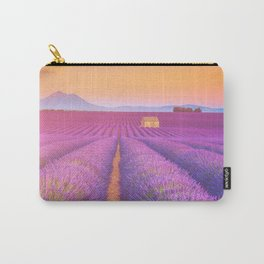 Dreamy Field of Lavender in Sunset Floral Landscape Photograph Carry-All Pouch