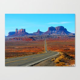 Classic Road Runner View Canvas Print