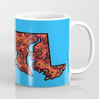 maryland Mugs featuring Maryland Paisley Illustration by Adrienne S. Price