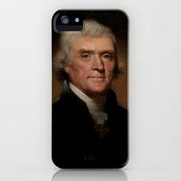 portrait of Thomas Jefferson by Rembrandt Peale iPhone Case