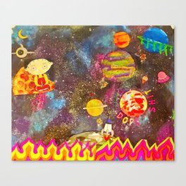 Space trip Canvas Print
