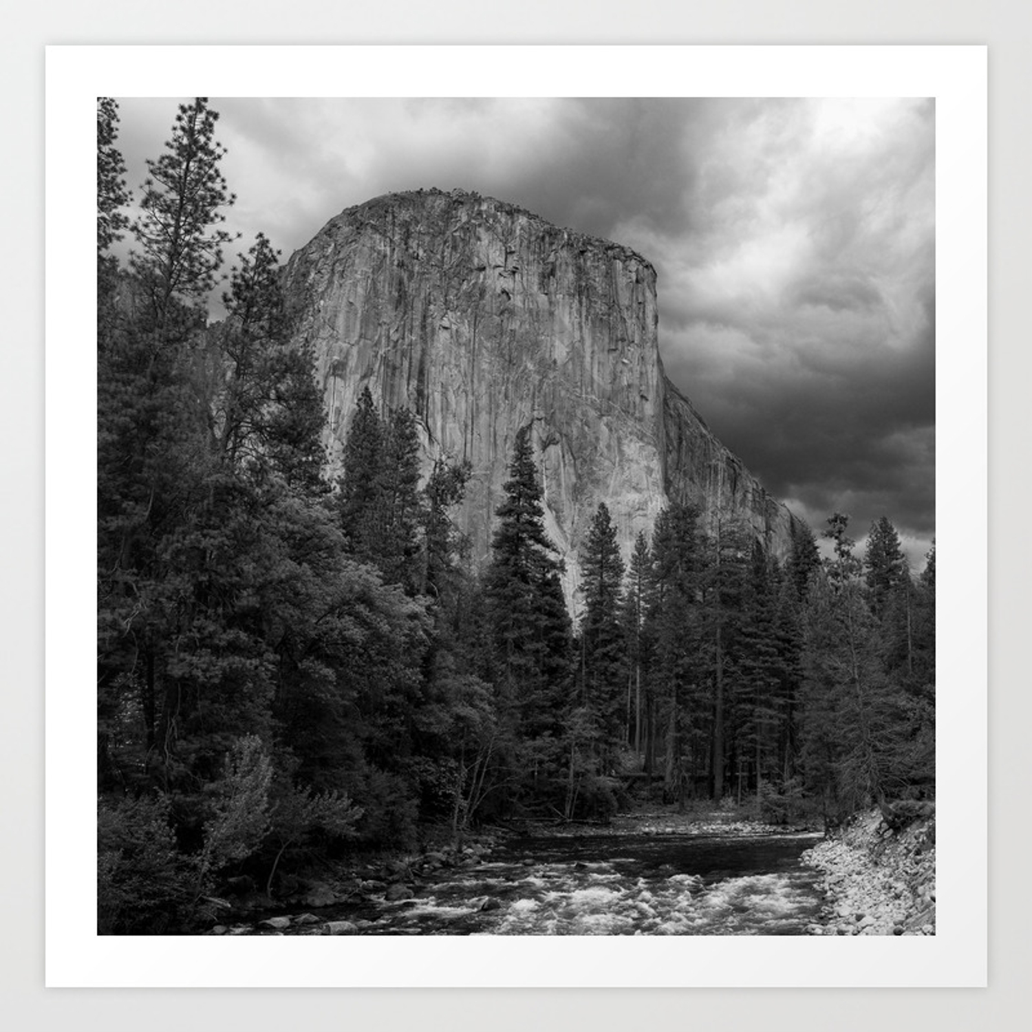 Yosemite national park el capitan black and white photography outdoors landscape national parks art print