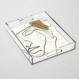 Abstract Face Acrylic Tray