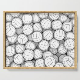 All I Want To Do Is Volleyball Serving Tray