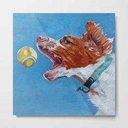 Brittany Spaniel Dog Portrait Metal Print
