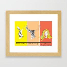 Rabbit, deer and you Framed Art Print