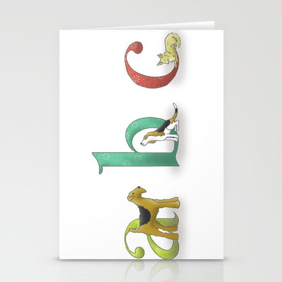 alphabet dogs Stationery Cards