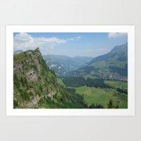 switzerland Art Prints featuring Switzerland by Melfaber