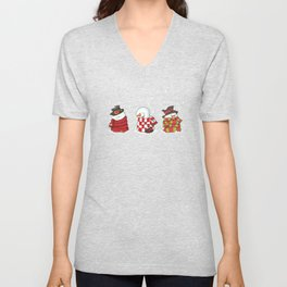 Wrapped Snowmen Unisex V-Neck