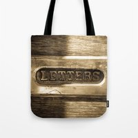 letters Tote Bags featuring Letters by BD Photo
