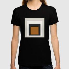 Block Colors - Black White Grey Ochre T-shirt