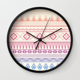 Geo Pattern Sunset Wall Clock