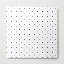 Small Purple Polka Dots Metal Print