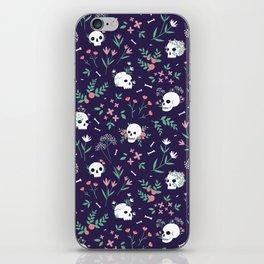 Skull Floral iPhone Skin