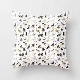 Various Dogs Pattern Throw Pillow