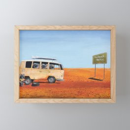 Going to the Beach Framed Mini Art Print