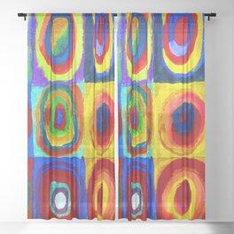 Wassily Kandinsky Color Study Sheer Curtain