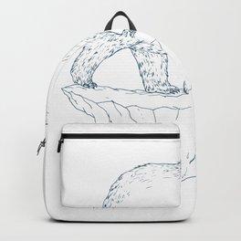 Polar Bear Walking Iceberg Ukiyo-e Backpack