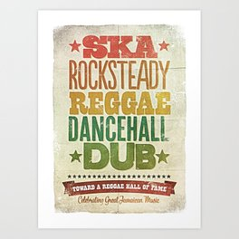 Shades of Reggae Art Print