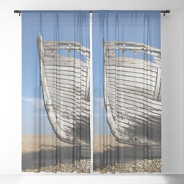 Beached Boat Sheer Curtain