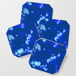 Abstract landscape Blue tree clouds Coaster