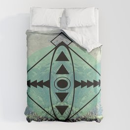 Mountians and Print Duvet Cover