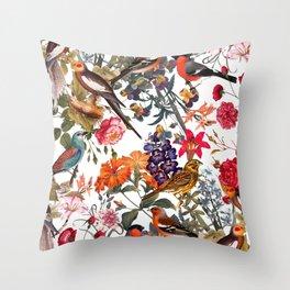Floral and Birds XXXIII Throw Pillow