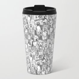 Sketched Dogs Travel Mug