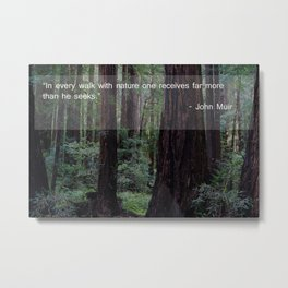 Muir Woods Quote 1 Metal Print