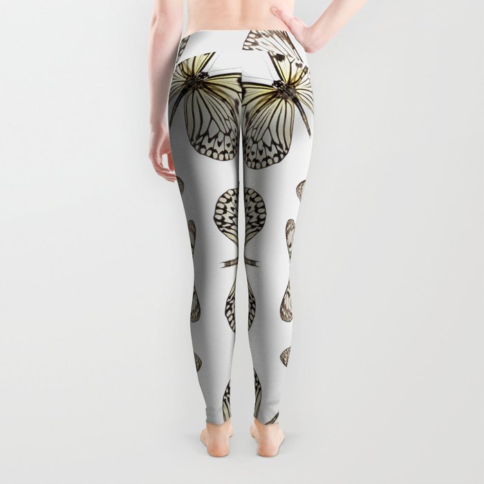 Rice Paper Butterfly Circle Leggings