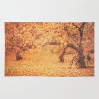 new york city Area & Throw Rugs featuring Autumn - New York City by Vivienne Gucwa
